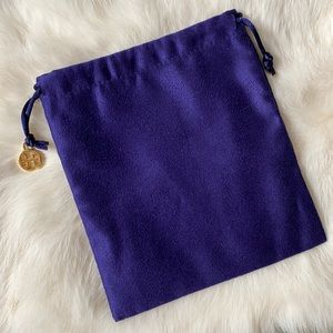 Tory Burch Jewelry Pouch Dust Bag with Logo Charm